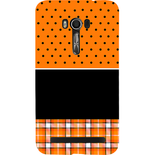 Snapdilla Orange Background Black Dot Stripes Pattern Best Cute Awesome Branded Cell Cover For Asus Zenfone Go ZC500TG