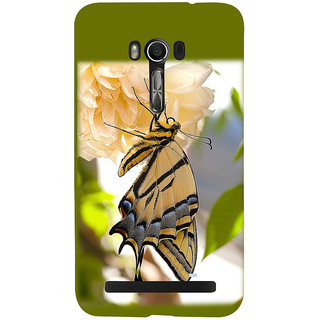 Snapdilla Colourful Beautiful Green Background Butterfly On A Flower Back Cover For Asus Zenfone Go ZC500TG