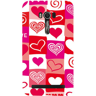 Snapdilla Multi Colour Different Love Hearts Simple Cool Good Looking Pretty Mobile Cover For Asus Zenfone Go ZC500TG