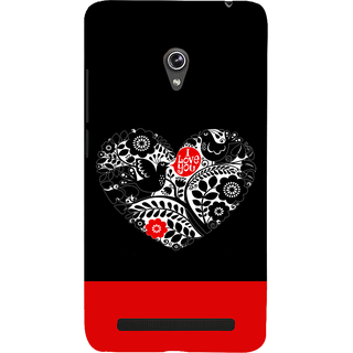 Snapdilla Lovely Black Background I Love You Quote Heart Shaped Smartphone Case For Asus Zenfone 6 A600CG