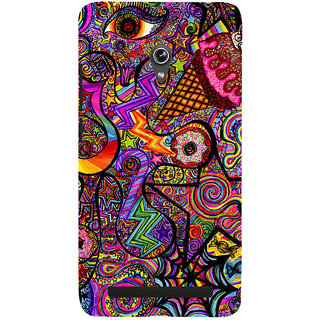 Snapdilla Animated Colorful Different Looking Simple Cute Graffiti Mobile Case For Asus Zenfone 6 A600CG