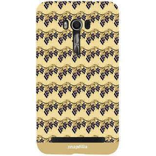 Snapdilla Beautiful Artistic Cool Looking Grape Garden Pattern Trendy Simple Mobile Pouch For Asus Zenfone Go ZC500TG