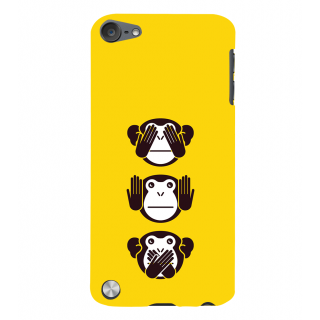 Snapdilla Modern Clip Art Inspirational Crazy  3 Monkeys Message Simple Best Designer Case For Apple IPod Touch 5