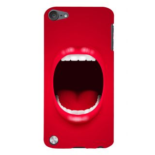 Snapdilla Crazy Funky Red Cartoon 3D Background Mobile Case For Apple IPod Touch 5