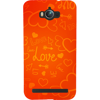 Snapdilla Orange Background Heart Shaped Love Quote Mobile Pouch For Asus Zenfone Max ZC550KL :: Asus Zenfone Max ZC550KL 2016 :: Asus Zenfone Max ZC550KL 6A076IN