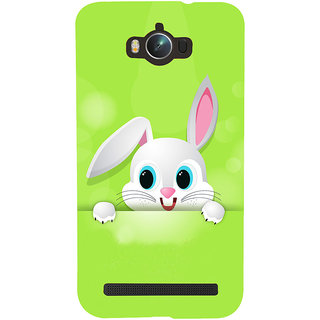 Snapdilla Green Backgound Artistic Pretty Rabbit Trendy Light Colour 3D Print Cover For Asus Zenfone Max ZC550KL :: Asus Zenfone Max ZC550KL 2016 :: Asus Zenfone Max ZC550KL 6A076IN