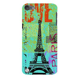 Snapdilla Vintage Modern Art Multi Color Love Paris Painted Eiffel Tower Mobile Cover For Apple IPod Touch 5