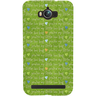 Snapdilla Artistic Green Color Texture You Are My Little Love Bug Quote Quote Mobile Pouch For Asus Zenfone Max ZC550KL :: Asus Zenfone Max ZC550KL 2016 :: Asus Zenfone Max ZC550KL 6A076IN