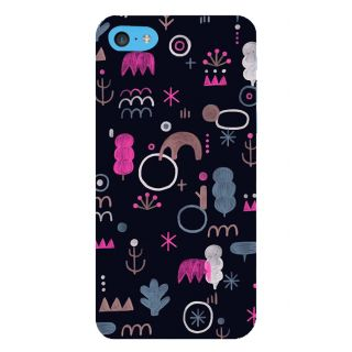 Snapdilla Black Background Different Shaped Chalk Art Different Pattern Mobile Pouch For Apple IPod Touch 6