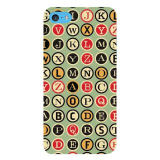 Snapdilla Creative Button Alphabets A To Z Letters Colorful Abcd Mobile Case For Apple IPod Touch 6