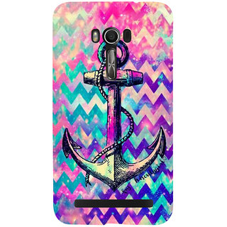 Snapdilla Multi Colored Modern Art Colorful Pattern Artistic Anchor 3D Print Cover For Asus Zenfone Go ZC500TG