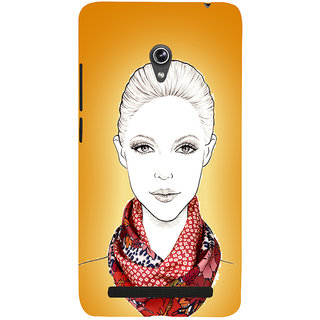 Snapdilla Yellow Background Awesome Unique Trendy Fashion Girl Mobile Pouch For Asus Zenfone 6 A600CG