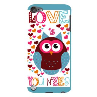 Snapdilla Funky Love Is Owl You Need Quote Heart Shaped Pattern Mobile Pouch For Apple IPod Touch 5