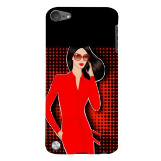 Snapdilla Colorful Pattern Superb Looking Red Hot Sexy Modern Girl Mobile Case For Apple IPod Touch 5