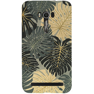 Snapdilla Simple Trendy Leaves Pattern Gorgeous Cute Colorful Back Cover For Asus Zenfone Go ZC500TG