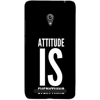 Snapdilla Plain Black Background Attitude Is Everything Beautiful Awesome Quote Mobile Pouch For Asus Zenfone 6 A600CG