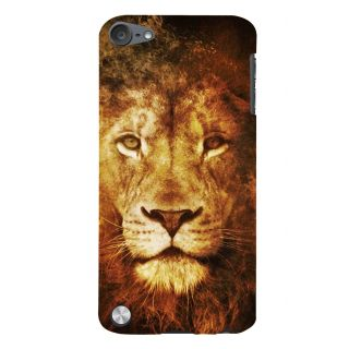 Snapdilla Wild Royal King Sher Fire Lion Background Back Cover For Apple IPod Touch 5