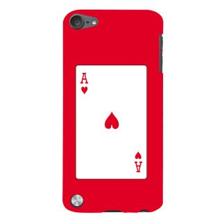 Snapdilla Funky Crazy Red Background Ace Playing Card Modern Deck Mobile Cover For Apple IPod Touch 5
