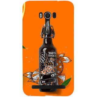Snapdilla Orange Background 3D Unique Bottle Original Cool Mobile Cover For Asus Zenfone Go ZC500TG