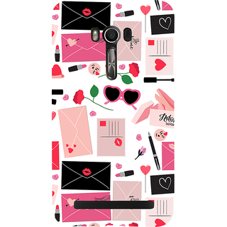 Snapdilla Pink Color Postal Theme Pattern Lovely Cute Message Awesome Designer Case For Asus Zenfone Go ZC500TG