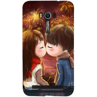 Snapdilla Colouful Cartoon Fireworks Best Girlfriend Gift First Kiss Mobile Cover For Asus Zenfone Go ZC500TG