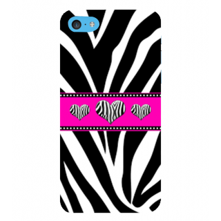 Snapdilla Different Pattern Black  White Heart Shaped Zebra Love Leather Phone Case For Apple IPod Touch 6