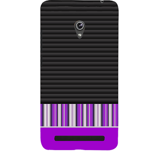 Snapdilla Black  Purple Cool Good Looking Different Strpes Pattern Quality Back Cover For Asus Zenfone 6 A600CG