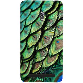 Snapdilla Green Color Amazing Peacock Quill Good Looking 3D Superb Mobile Pouch For Asus Zenfone 6 A600CG