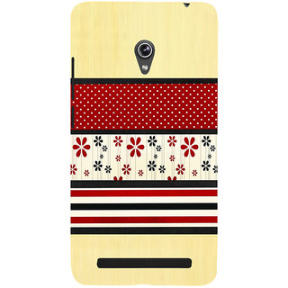 Snapdilla Light Background Red Floral Rangoli Pattern Simple Looking 3D Print Cover For Asus Zenfone 6 A600CG