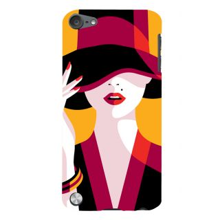 Snapdilla Yellow Background Good Looking Hot Sexy Girl Painting Mobile Case For Apple IPod Touch 5