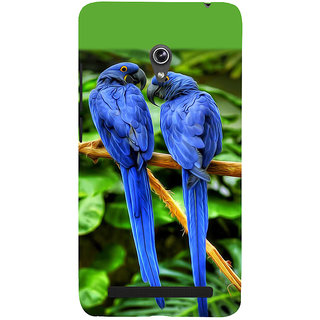 Snapdilla Green Background Blue Color Lovely Bird Macaw Pet Parrots Hd Photo Phone Case For Asus Zenfone 6 A600CG