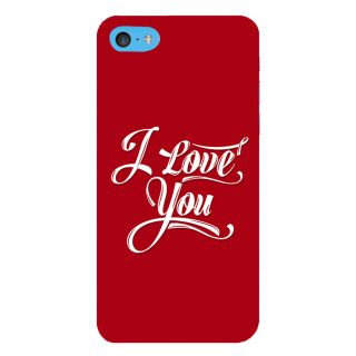 Snapdilla Red Background Lovely Cute Valentine Gift True Honest I Love You Mobile Case For Apple IPod Touch 6