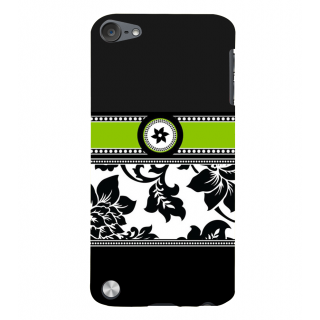 Snapdilla Artistic Black And White Floral Pattern Stylish Unique Back Cover For Apple IPod Touch 5