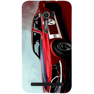 Snapdilla Lovely Classic Wonderful Vintage Red Sports Race Car Creative Designer Case For Asus Zenfone Go ZC500TG