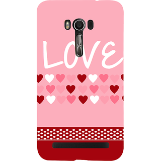 Snapdilla Baby Pink Background Cute Little Hearts Pattern Lovely Superb Cell Cover For Asus Zenfone Go ZC500TG