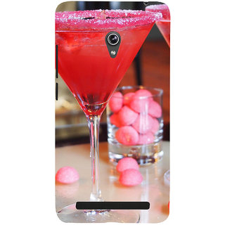 Snapdilla Lovely Strawberry Wine Juice Glass Red Color Unique Back Cover For Asus Zenfone 6 A600CG