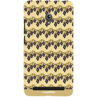 Snapdilla Beautiful Artistic Cool Looking Grape Garden Pattern Trendy Simple Mobile Pouch For Asus Zenfone 6 A600CG