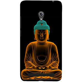 Snapdilla Good Looking Golden Gautam Buddha Meditation Painting Peaceful Pleasant Cell Cover For Asus Zenfone 6 A600CG