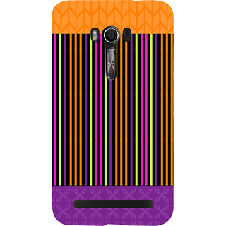 Snapdilla Multi Color Stripes Pattern Multi Best Girly Pretty Simple Designer Case For Asus Zenfone Go ZC500TG