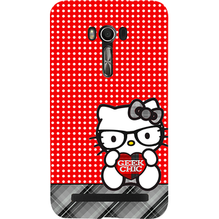Snapdilla Good Looking Dots Pattern Hello Kitty Cartton Simple Girly Back Cover For Asus Zenfone Go ZC500TG