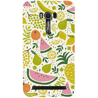 Snapdilla Artistic White Background Mixed Fruit Pattern Colorful Mobile Cover For Asus Zenfone Go ZC500TG