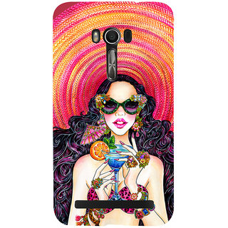 Snapdilla Classic Unique Fashion Girl Designer Painting Mobile Cover For Asus Zenfone Go ZC500TG