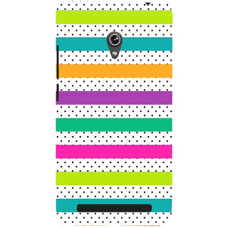 Snapdilla Simple Stylish Trendy Colorful Stripes Pattern Best Cell Cover For Asus Zenfone 5