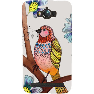 Snapdilla White Color Background Artistic Clipart Floral Pattern Pet Bird Designer Case For Asus Zenfone Max ZC550KL :: Asus Zenfone Max ZC550KL 2016 :: Asus Zenfone Max ZC550KL 6A076IN