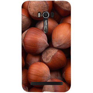 Snapdilla Unique Brown Background Hazelnut Pattern Nutshell 3D Nutella Cell Cover For Asus Zenfone Go ZC500TG