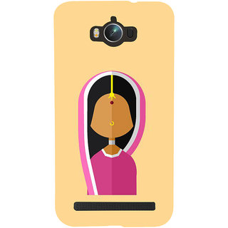 Snapdilla Light Colour Background Orthodox Hindu Traditional Lady Mobile Pouch For Asus Zenfone Max ZC550KL :: Asus Zenfone Max ZC550KL 2016 :: Asus Zenfone Max ZC550KL 6A076IN