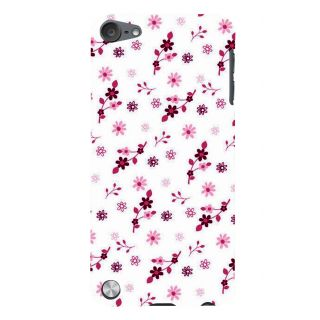 Snapdilla White Background Pleasant Floral Design Beautiful Cool Phone Case For Apple IPod Touch 5
