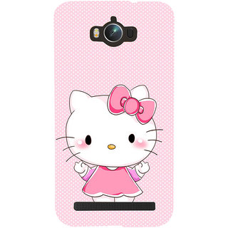 Snapdilla Sweet Baby Pink Dots Pattern Cute Clipart Hello Kitty Mobile Cover For Asus Zenfone Max ZC550KL :: Asus Zenfone Max ZC550KL 2016 :: Asus Zenfone Max ZC550KL 6A076IN