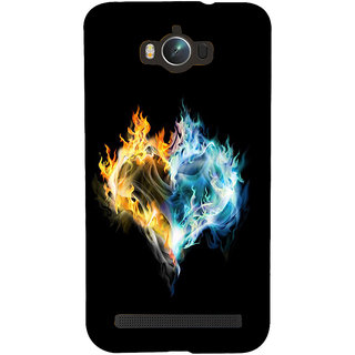 Snapdilla Breakup Love Heart Shaped Burning Fire Black Background Designer Case For Asus Zenfone Max ZC550KL :: Asus Zenfone Max ZC550KL 2016 :: Asus Zenfone Max ZC550KL 6A076IN