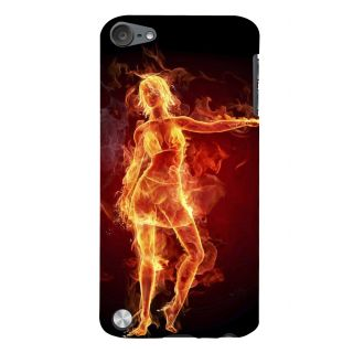 Snapdilla Burning Classic Golden Dancing Lady Fire Art Girl With Flames Designer Case For Apple IPod Touch 5